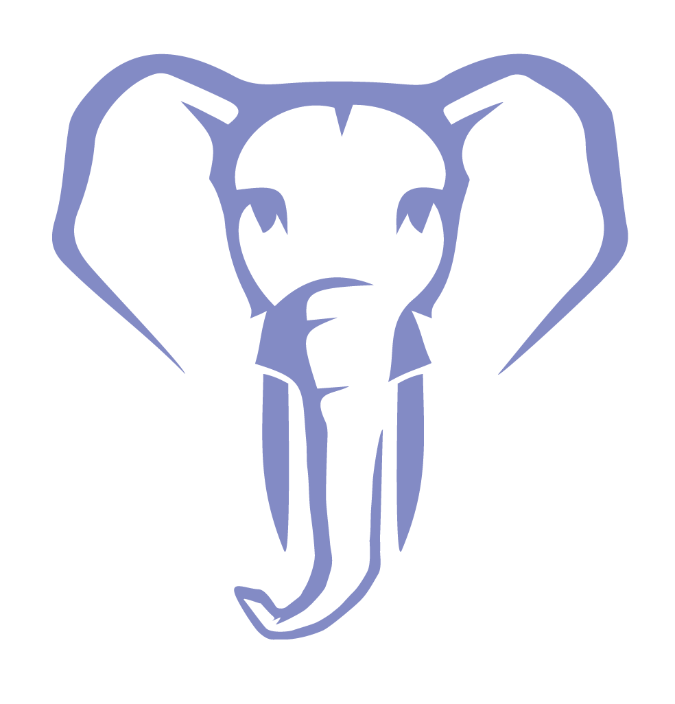 Postgresconf elephant 2018 blue 01